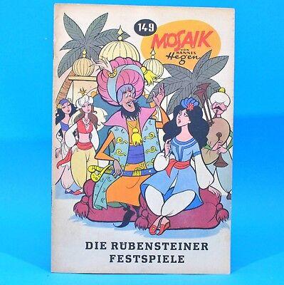 Mosaik 149 Digedags Hannes Hegen Originalheft | DDR | Sammlung original MZ 15