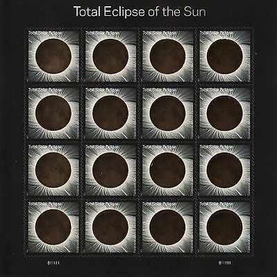 Us 2017 Solar  5211 Total Eclipse Of The Sun 16 Forever Stamp Sheet W Sleeve Nip