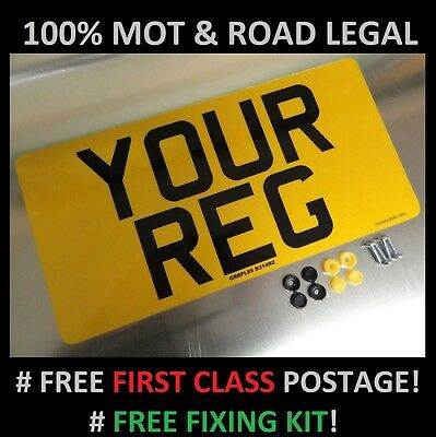 "12"" x 6"" REAR CAR NUMBER PLATE  100% MOT & ROAD LEGAL"
