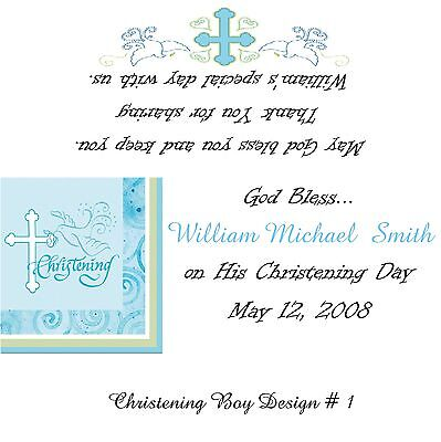 Baptism/Christening Candy Bar Wrappers/Birthday Party Favors Boy Design #1 (Boy Candy Wrappers)