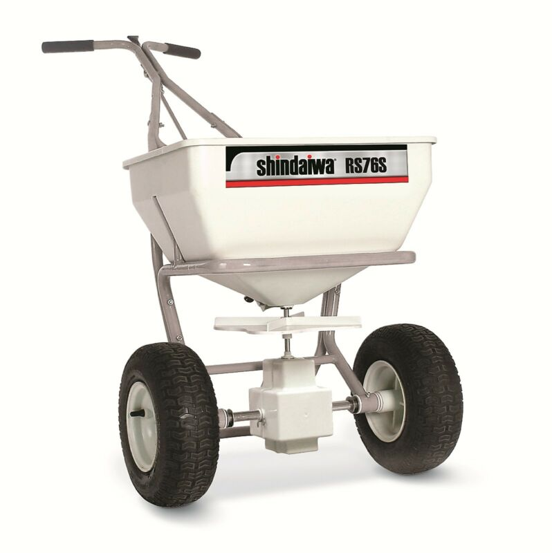 SHINDAIWA Spreader RS76S Commercial 300 Stainless Steel Frame Capacity 75lbs