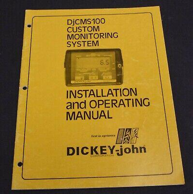 Dickey-john Djcms100 Custom Monitoring System Owners Manual