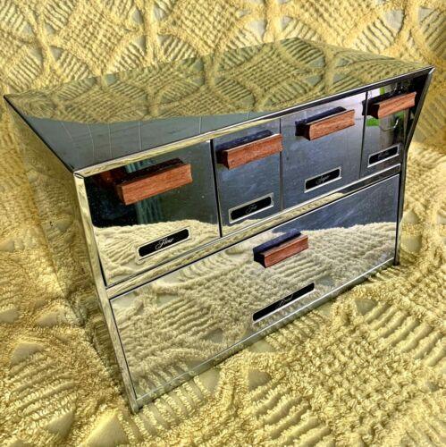 Vintage Krestline Speko Breadbox Drawer Canister Set Stainless Steel Retro MCM