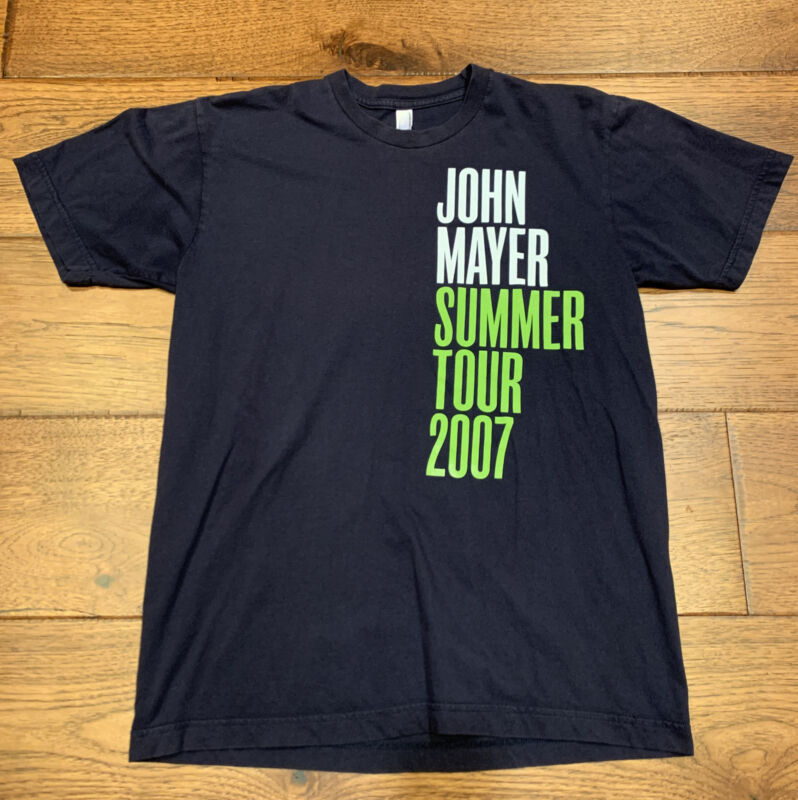 JOHN MAYER SUMMER TOUR 2007 CONCERT T SHIRT SIZE Medium American Apparel
