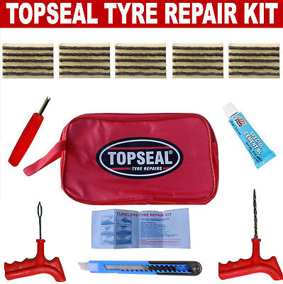 Tubeless Tyre Puncture Repair Kit With 25 Strings And Rema Tip Top Blue Cement