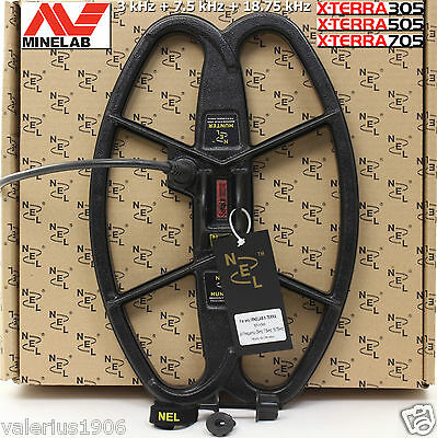 "New NEL HUNTER 12.5""x8.5"" coil for Minelab X-Terra 3 freq 3kHz 7.5kHz 18.75kHz"