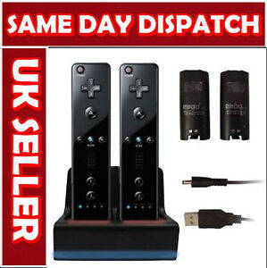 BLACK-CHARGER-DOCKING-STATION-AND-2X-BATTERY-FOR-WII-REMOTE-CONTROLLER-CABLE