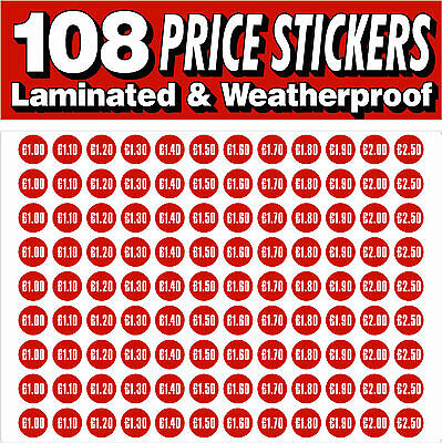 Ice Cream Printed Prices Self Adhesive Cut Stickers Personalised 108 Stickers