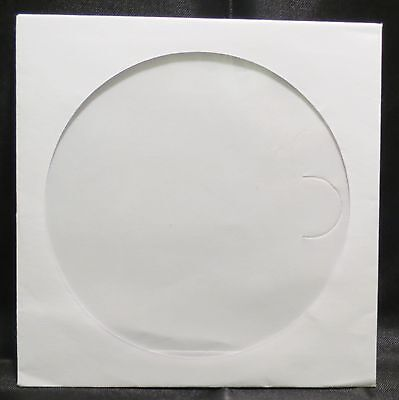 1000 CD Sleeves Paper CD sleeve white with Window Flap Cases dvd cd-R #102177C