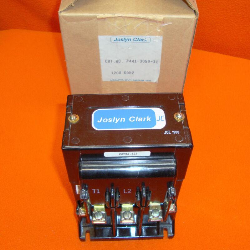 NEW Joslyn Clark 7441-3050-11 Motor Contactor Starter 7441305011 120 Volt Coil