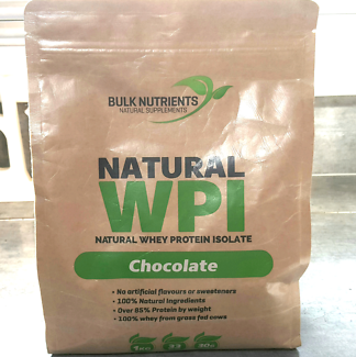 Natural Whey Protein Isolate Sugar Free Powder 1kg Chocolate