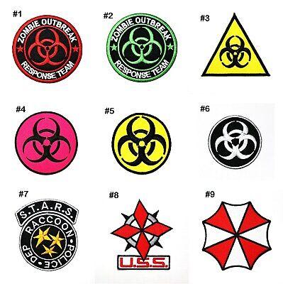 Diy Child Zombie Costume (Zombie Outbreak Biohazard Halloween Costume Team Emblem Clothing Iron on)
