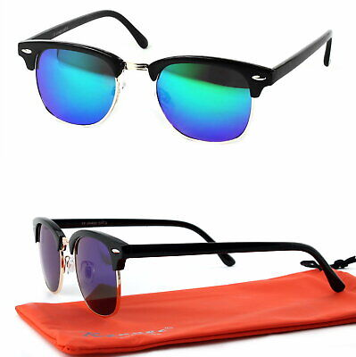 Panto Form Sonnenbrille 50er Jahre Retro Classic Rockabilly Schwarz Grün Blau C3 ()
