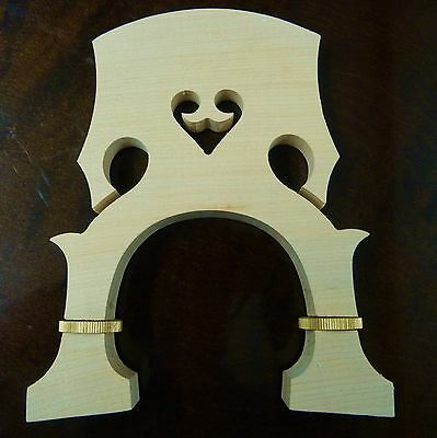 adjustable DOUBLE BASS - CONTREBASSE bridge , 3/4 size maple + brass UK SELLER