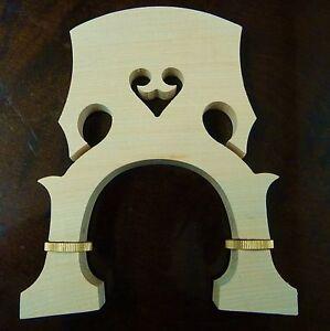 adjustable DOUBLE BASS - CONTREBASSE bridge , 3/4 size maple + brass UK SELLER