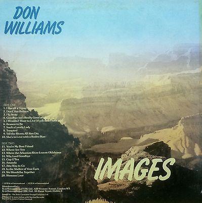 "Don Williams. Images   12"" LP 33rpm   20 Country Tracks    NE1033     K-TEL 1978"