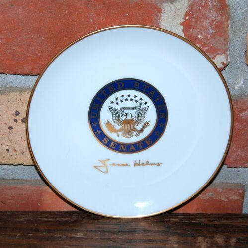Vtg United States Senate Jesse Helms North Carolina Senator Collectible Plate