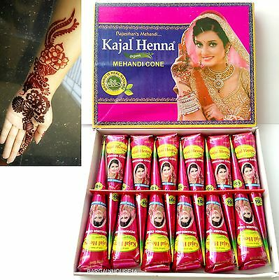 50 X Dark Brown Henna Mehndi Tattoo Cones Wholesale Price for bulk buy !!