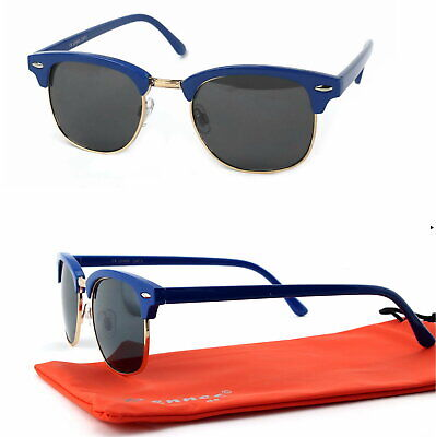 Panto Form Sonnenbrille 50er Jahre Retro Classic Rockabilly Blau Schwarz C3 ()