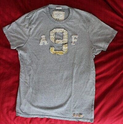 Abercrombie & Fitch T-Shirt - Ash Gray - Men's Muscle Fit - X-Large - Pre-Owned