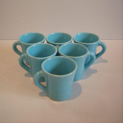 6 Demitasse Turqoise Lt Blue Cup Mug Catalina Pottery
