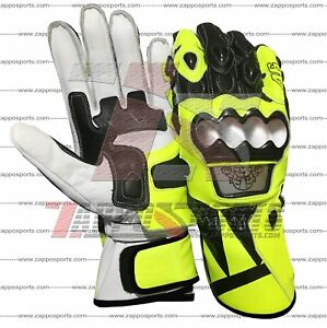 Valentino Rossi 2018 Motogp Leather Motorbike Leather Gloves Available All Size