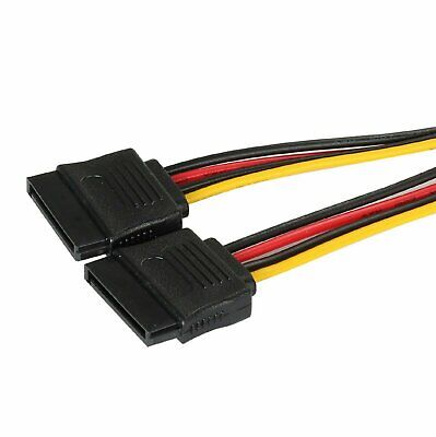 SATA Power 15-pin Y-Splitter Cable Adapter Male to Female for HDD Hard Drive Computer Cables & Connectors