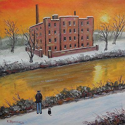 ' The old factory '   Original oil painting - Northern art - Reg Mummery