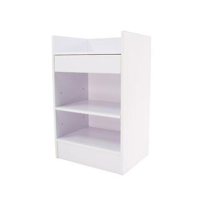 White Cash Counter 19.7 Inch Cash Wrap Checkout Frame Shelf Retail Store Display