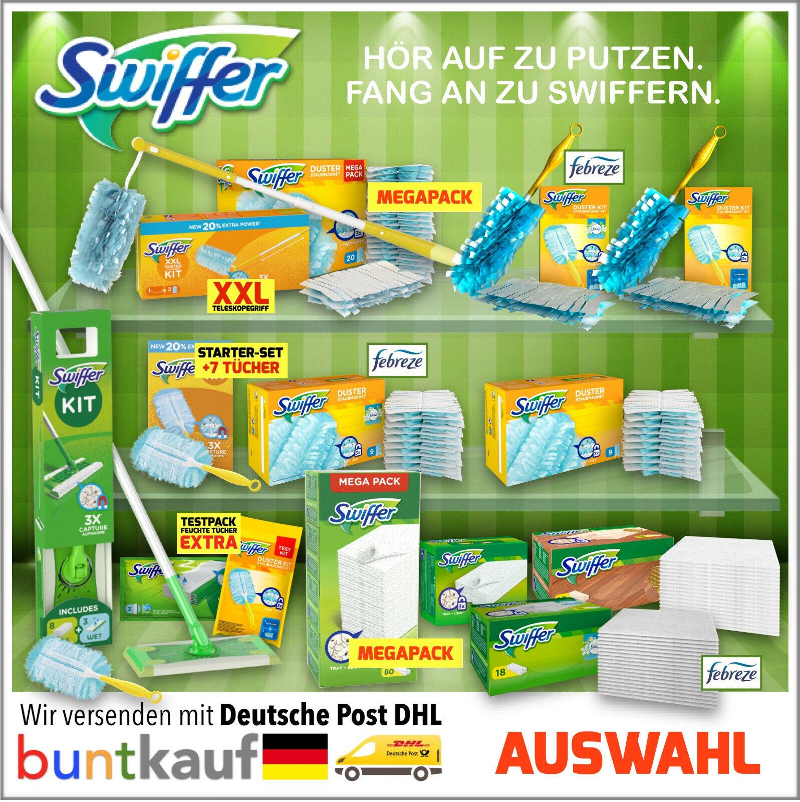 Swiffer Staubmagnet l Bodenwischer l Starter Sets l Nachfüller Tücher l AUSWAHL