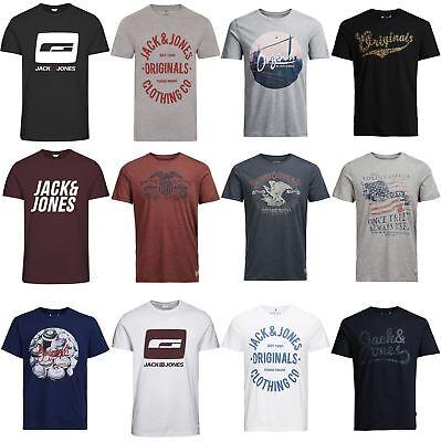 Jack & Jones T-Shirt & Tops Mens Assorted Fit Crew Neck Short Sleeve Tee - S-XXL