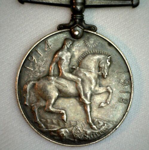 1914-1918 Silver WWI British War Medal Issued Spr M McKeon RE 345637 K6