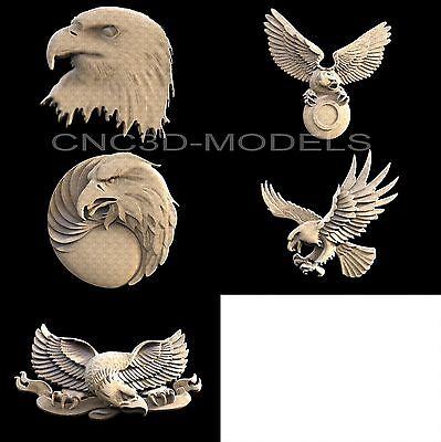 3d Stl Models For Cnc Router Engraver Carving Artcam Aspire Bird Eagle 1146