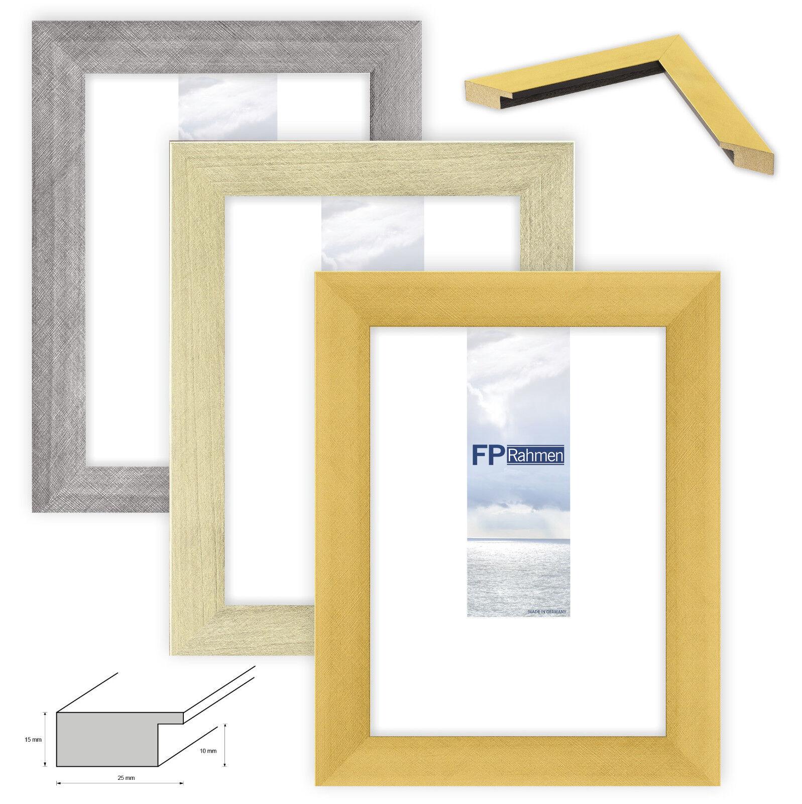 Holzrahmen Bilderrahmen Spiegel in Gold Silber Stahl gebürstet ...