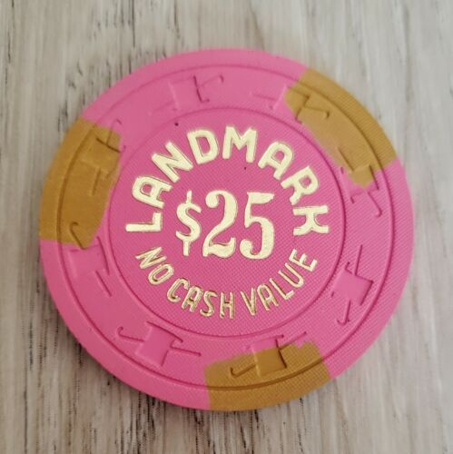 $25 Las Vegas Landmark NCV H&C 1978 Casino Chip - Near Mint