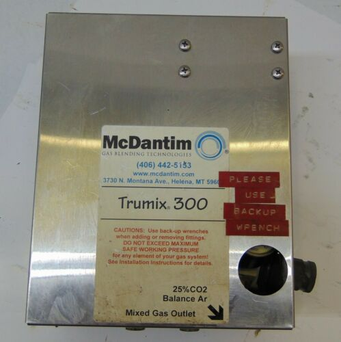 MCDANTIM TRUMIX 300 GAS BLENDER PANEL, G1350, 25% CO2, 120-150PSI