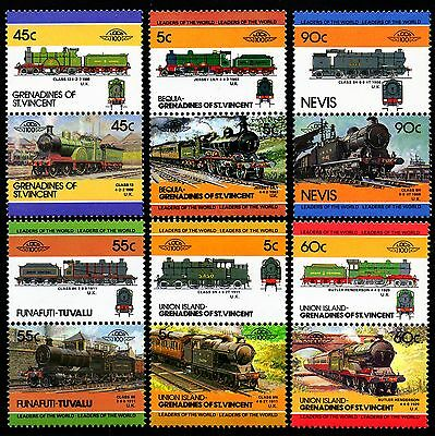 GCR GREAT CENTRAL RAILWAY Collection GB Train Stamps (Leaders of the World)