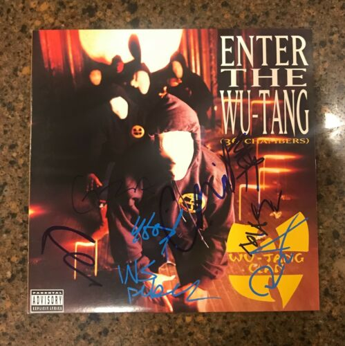 * WU TANG CLAN * signed vinyl album * ENTER THE WU TANG * 36 CHAMBERS * by 7