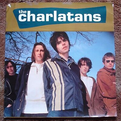 """THE CHARLATANS UK - Vintage 1990s Poster - 21"""" x 20"""""""