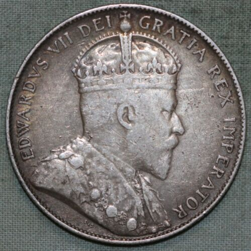 1902 CANADA 50 CENTS 50C EDWARD VII NGC XF 25 VERY LOW MINTAGE SCARCE COIN