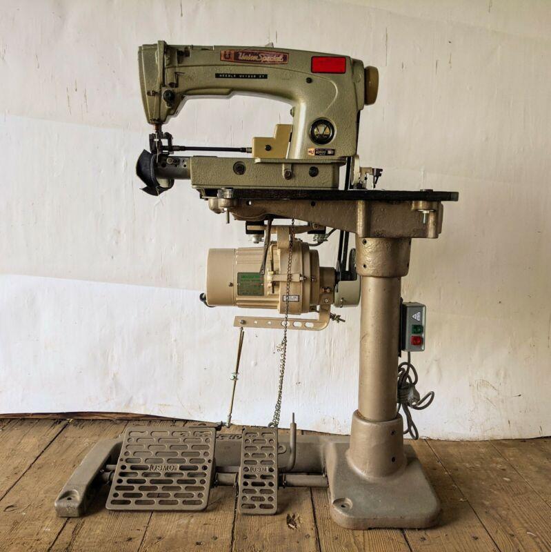 UNION SPECIAL 63900 M 1-Needle, 2-Thread Lockstitch Sewing Machine + Table & 110