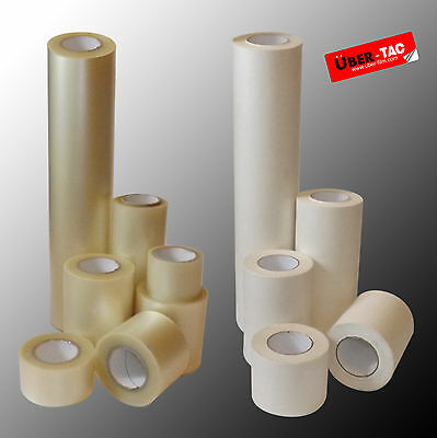 Uber-Tac Clear / Paper Roll Of Application Transfer Tape Many Sizes App Tape*