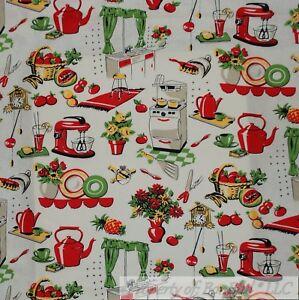 BonEful Fabric FQ Cotton Quilt VTG Old Antique Retro Kitchen Flower Tea Pot  Dish