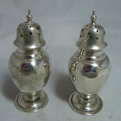 Edwardian Silver Pepper Pots Mappin & Webb London 1908 79g 9.5cm A70017
