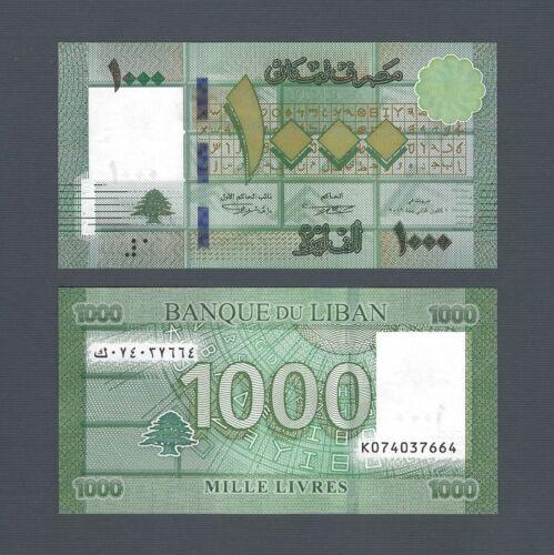 LEBANON 1000 Livres 2016, P-90c, Pack Fresh UNC, Banque du Liban