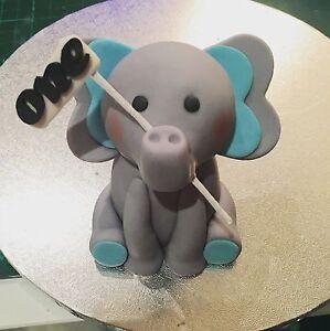 Elephant Cake Topper Edible FONDANT CAKE DECORATION