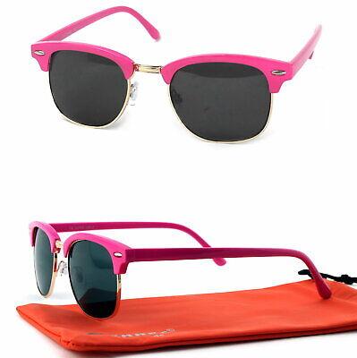 Panto Form Sonnenbrille 50er Jahre Retro Classic Rockabilly Pink Schwarz C3 ()