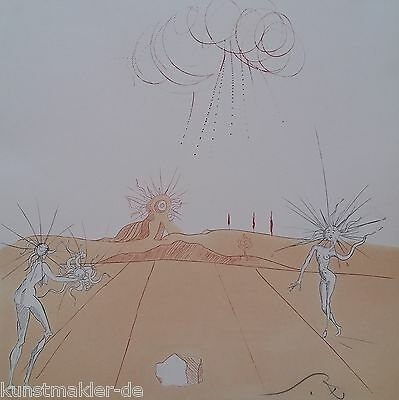 MUSEALE Salvador Dali Original Radierung 237: Paysage avec figures-soleil