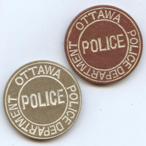 Canada Exonumia 2 Ottawa Police Dept (#1046) Tokens. Carefully Check