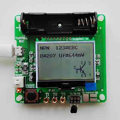 Newest Version Of Inductor-capacitor Esr Meter Diy Mg328 Multifunction Test